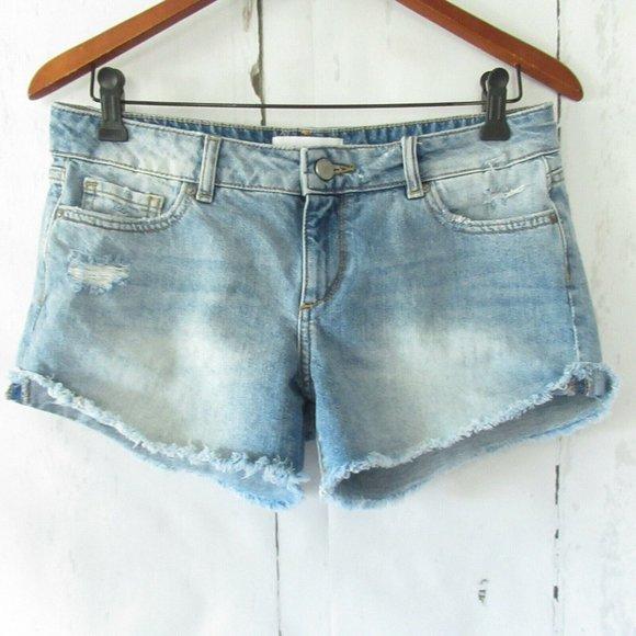 DL1961 Pants - DL1961 Karlie Boyfriend Shorts Light Distressed